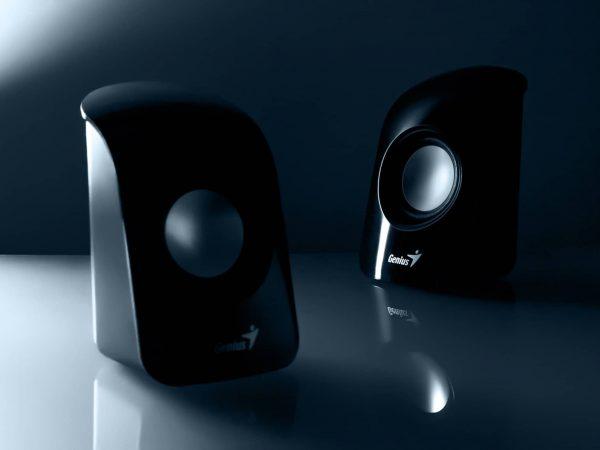 zwei kleine Lautsprecher