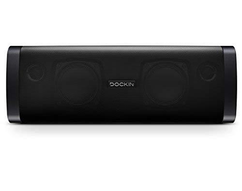 DOCKIN D FINE Cube Bluetooth Lautsprecher, Wireless/kabellos, HiFi Crossover, 25 Watt Speaker mit 12 Stunden Akku und Stereomode, kompakt & einfach tragbar/portabel, IP55 wassergeschützt