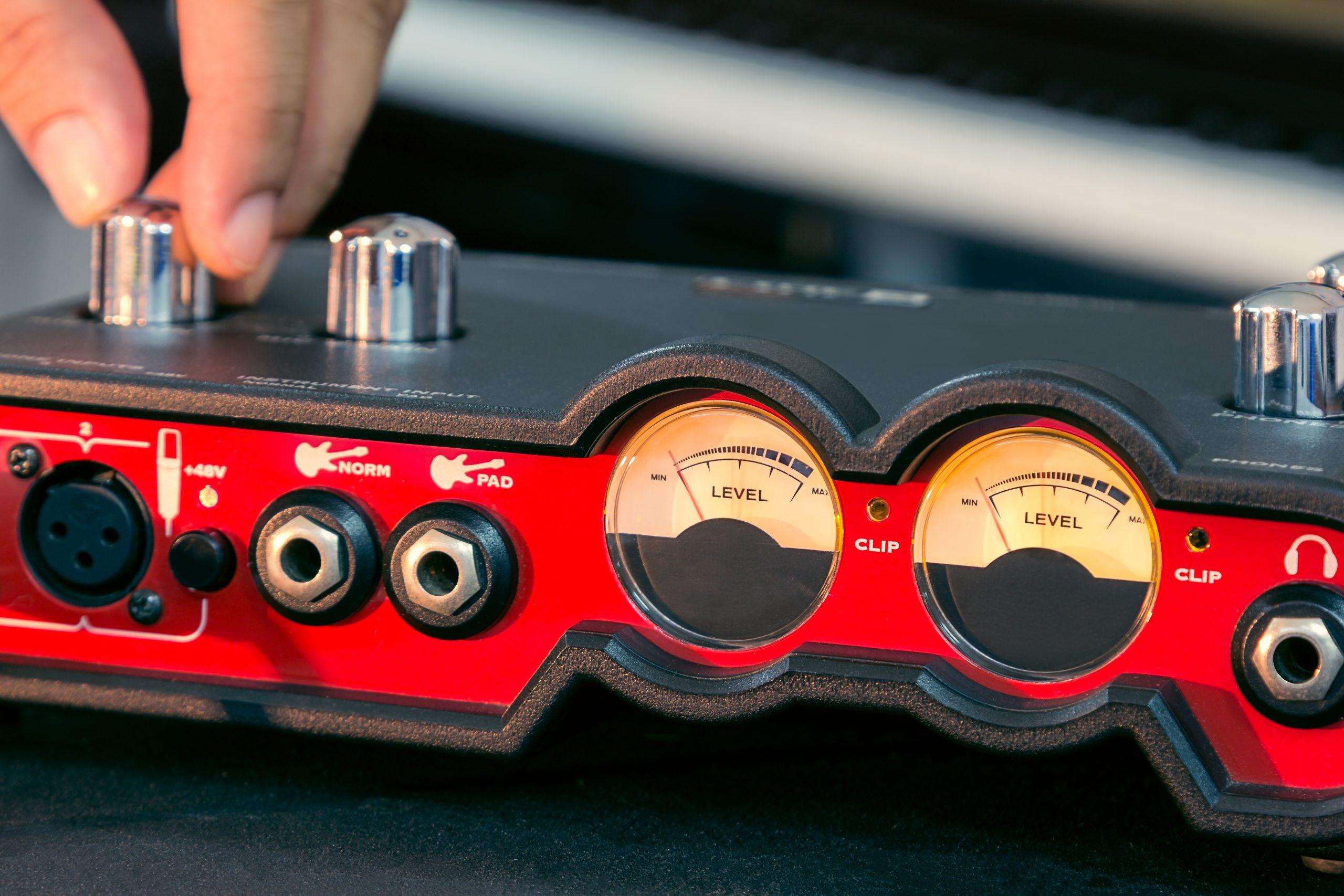 Hand adjust volume of the audio.