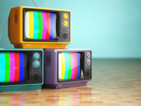 vintage television concept.