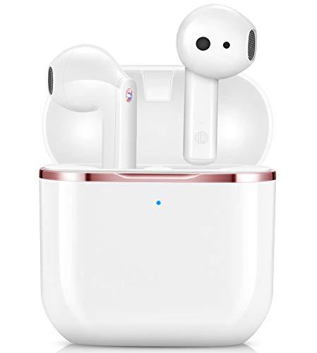 Bluetooth Kopfhörer In Ear, yobola Kopfhörer Kabellos HiFi Stereoklang, IPX5 Wasserdicht Kabellose Kopfhörer Touch Control, Bluetooth 5.1 Earbuds, Eingebautes Mikrofon, für Smartphone