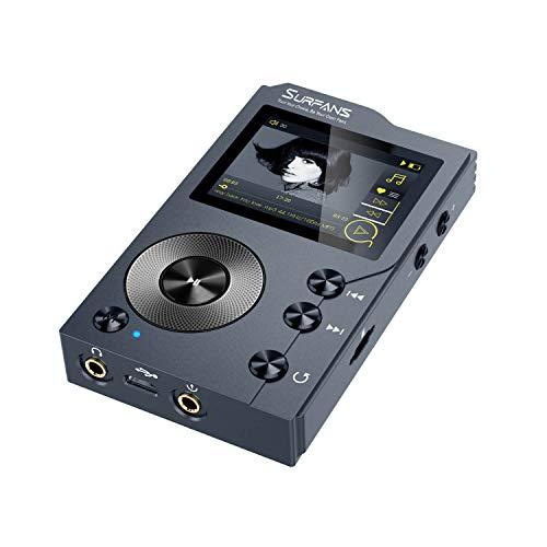 Surfans F20 - MP3 Player mit Bluetooth, DSD DAC, Verlustfreier Hochauflösender Digitaler Ton, Tragbarer Audioplayer mit 32GB Speicherkarte, Speicher auf bis zu 256GB Erweiterbar