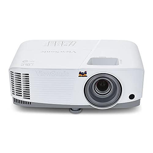 Viewsonic PA503S 3D Heimkino DLP Beamer (SVGA, 3.600 ANSI Lumen, HDMI, 2 Watt Lautsprecher, 1.1x optischer Zoom) weiß-grau
