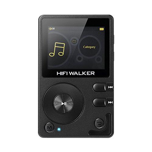 HIFI WALKER H2 High-Res MP3 Player mit Bluetooth, DSD DAC OTG, Verlustfreier Hochauflösender Musik Player, Tragbarer Audioplayer mit Speicherkarte und HD Kopfhörern, Unterstützt bis zu 256 GB