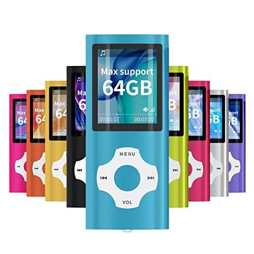 Mymahdi MP3 / MP4 beweglicher Spieler, hellblau mit 1.8 Zoll LCD-Schirm und Memory Einbauschlitz, maximale Unterstützung 128GB TF Karte