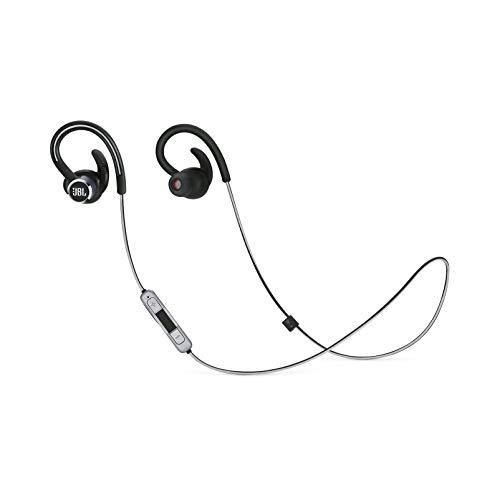 JBL Reflect Contour 2 - Kabelloser Sport-Kopfhörer mit sicherem Sitz - Bis zu 10 Stunden Akkulaufzeit mit Schnellladung - Schwarz