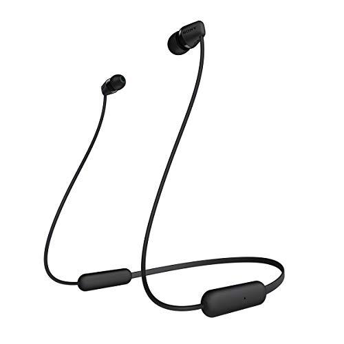 Sony WI-C200B kabelloser Bluetooth In-Ohr Kopfhörer (15 Stunden Akkulaufzeit, Voice Assistent, magnetische Ohrstöpsel, integrierte Headset-Funktion, Headset mit Mikrofon) Schwarz