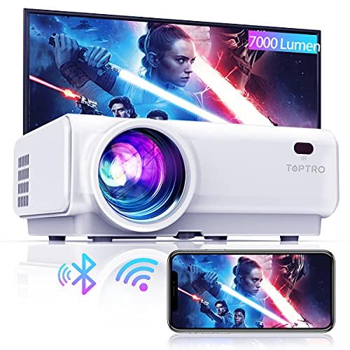 Mini Beamer, WiFi Bluetooth Beamer Projektor, Beamer 7000 Lumen Full HD 120